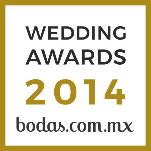 Ganador Wedding Awards 2014 bodas.com.mx