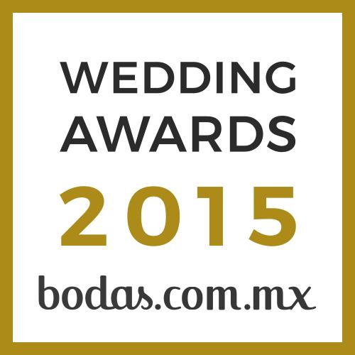 Ganador Wedding Awards 2015 bodas.com.mx