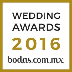 Ganador Wedding Awards 2016 bodas.com.mx