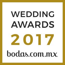 Ganador Wedding Awards 2017 bodas.com.mx